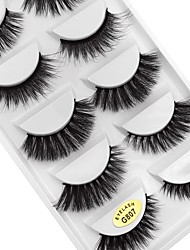 cheap -Eye 1 Natural / Curly Daily Makeup Full Strip Lashes / Thick Make Up Professional / Portable Portable Daily 1cm-1.5cm