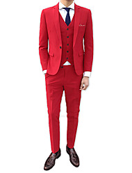 cheap -Men's Suits-Solid Colored Notch Lapel / Long Sleeve