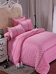 cheap -Duvet Cover Sets Geometric Poly / Cotton Yarn Dyed 4 Piece