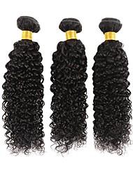 baratos -3 pacotes Cabelo Malaio Kinky Curly 8A Cabelo Humano Cabelo Humano Ondulado Extensões de Cabelo Natural 8-28 polegada Côr Natural Tramas de cabelo humano extensão Melhor qualidade Venda imperdível