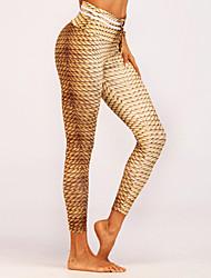 cheap -Women's Basic Sporty Legging - Geometric Mid Waist
