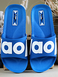 cheap -Men's Slippers House Slippers Ordinary / Casual PVC(Polyvinyl chloride) solid color