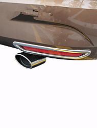 baratos -1 Peça 250mm Pontas do tubo de escape Dobrado Aço Inoxidável Silenciadores de Escape For Ford Escort Todos os Anos