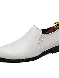 cheap -Men's Formal Shoes Leather / Faux Leather Summer Loafers & Slip-Ons White / Black / Gray / Party & Evening