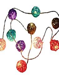 Недорогие -1,5 м Гирлянды 10 светодиоды ДИП светодиоды Тёплый белый Декоративная Аккумуляторы AA 1шт
