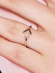 abordables -Femme Anneau ouvert - S925 argent sterling Délicat, Coréen, Mode 8 Or Pour Sortie Valentin