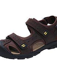 abordables -Homme Chaussures Cuir Eté Confort Sandales Café / Brun claire / Kaki