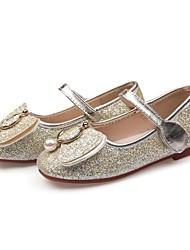 abordables -Fille Chaussures Polyuréthane Printemps Chaussures de Demoiselle d'Honneur Fille Sandales Noeud / Paillette pour Or / Bleu / Rose