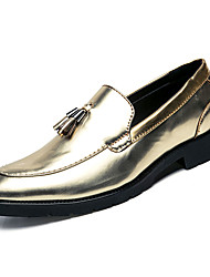 cheap -Men's Dress Shoes Nappa Leather Summer Comfort Oxfords Gold / Black