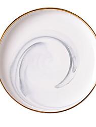 cheap -1 pc Ceramic Heatproof / Cool Dinner Plate, Dinnerware