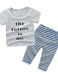 cheap -Baby Boys' Striped Short Sleeve Clothing Set