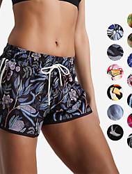 baratos -Mulheres Shorts de Corrida - Preto Bruto, Rose Rosa / Azul, Preto / Rosa Esportes Reativo Shorts largos Roupas Esportivas Leve,