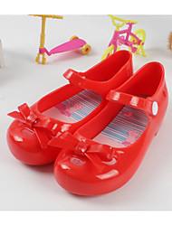 baratos -Para Meninas Sapatos PVC Verão Conforto Sandálias para Preto / Vermelho / Amêndoa