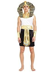 baratos -Fantasias Egípcias Roupa Homens Dia Das Bruxas / Carnaval / Dia dos Mortos Festival / Celebração Trajes da Noite das Bruxas Preto Sólido