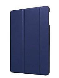 Недорогие -Кейс для Назначение Amazon Kindle Fire hd 8(7th Generation, 2017 Release) со стендом / Ультратонкий Чехол Однотонный Твердый Кожа PU