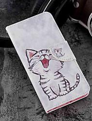 economico -Custodia Per Xiaomi Mi 6X / Mi 5X Porta-carte di credito / A portafoglio / Con supporto Integrale Gatto Resistente pelle sintetica per