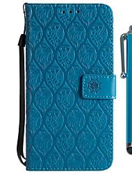 baratos -Capinha Para Xiaomi Redmi 5 Plus / Redmi 5 Carteira / Porta-Cartão / Com Suporte Capa Proteção Completa Flor Rígida PU Leather para Redmi Note 5A / Xiaomi Redmi Note 4X / Xiaomi Redmi 5 Plus