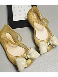 baratos -Para Meninas Sapatos PVC Verão Conforto Sandálias para Dourado / Prateado