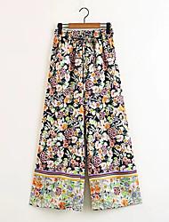 cheap -Women's Boho Wide Leg Pants - Floral / Floral Patterns