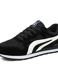 cheap -Men's Light Soles Tulle / PU(Polyurethane) Summer Comfort Athletic Shoes Running Shoes / Basketball Shoes / Walking Shoes Color Block Black / Dark Blue / Gray