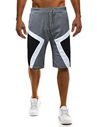 cheap -Men's Basic Sweatpants / Chinos Pants - Color Block