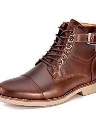 Недорогие -Муж. обувь Кожа Весна Армейские ботинки Ботинки Ботинки Черный Коричневый