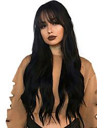 economico -Capello integro Lace integrale Parrucca Brasiliano / Poco ondulata Ondulato Parrucca 130% Attaccatura dei capelli naturale / Con nodi candeggiati Per donna Lungo Parrucche di capelli umani con retina