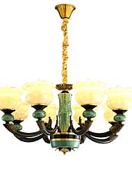abordables -ZHISHU 8-luz Estilo de vela Lámparas Araña Lámpara Torchiere de Pie - Ajustable, 110-120V / 220-240V Bombilla incluida / 15-20㎡