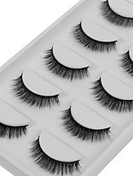 baratos -Olhos 1pcs Natural / Encaracolado Maquiagem para o Dia A Dia Tiras Completas de Cílios / Grossa Maquiagem Portátil / Universal Portátil /