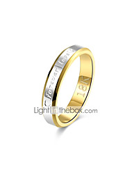economico -Band Ring - Rame, Argento placcato, Placcato in oro Vintage, Essenziale 8 / 9 Oro Per Regalo / Quotidiano