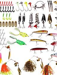cheap -101pcs pcs Lure kits Shad Spoons Buzzbait & Spinnerbait Soft Bait Plastics Metal Sea Fishing Bait Casting Lure Fishing