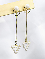 cheap -Women's Drop Earrings - Gold Plated, S925 Sterling Silver, Freshwater Pearl European, Sweet, Fashion Gold For Gift / Daily