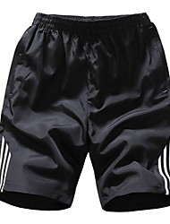 cheap -Men's Plus Size Slim Shorts Pants - Striped / Please choose one size larger according to your normal size. / Sports