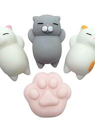 Недорогие -Резиновые игрушки Устройства для снятия стресса Кошка Кошачий коготь болотистый 4 pcs Детские Все Мальчики Девочки Игрушки Подарок