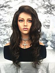 billige -Remy hår Blonde Front Paryk Brasiliansk hår Bølget 130% Massefylde 100% Jomfru Lang Dame Blondeparykker af menneskehår