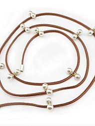 cheap -Women's Cute Imitation Pearl / Alloy Skinny Belt