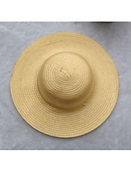 cheap -Unisex Work Holiday Straw Hat - Solid Colored