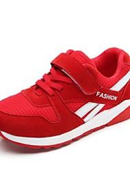 preiswerte -Mädchen Schuhe Tüll Winter Komfort Sneakers für Junior Draussen Rot Blau