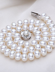 cheap -Women's Pendant Necklace  -  Pearl, Freshwater Pearl Shell Classic, Natural, Fashion White 56 cm Necklace For Party, Daily