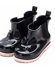 baratos -Para Meninas Sapatos Pele PVC Primavera Verão Botas de Chuva Botas Caminhada Laço para Bébé Ao ar livre Fúcsia / Vermelho / Amêndoa