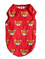 cheap -Dogs / Cats / Pets Vest Dog Clothes Bear / Classic Red / Blue Cotton / Polyester Costume For Pets Male Logo Style / Casual / Daily