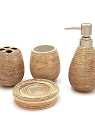 economico -Set di accessori per il bagno Porta spazzolini Sapone Piatti e Supporti Creativo Ceramica 4pcs - Bagno dell'hotel Bagno