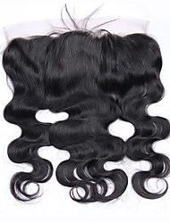 cheap -beikashang Brazilian Hair 4x13 Closure Wavy Free Part Swiss Lace Remy Human Hair Women's With Baby Hair / Soft / For Black Women Dailywear