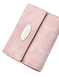economico -Per donna Sacchetti pelle sintetica Portafogli Bottoni Rosa / Grigio scuro / Grigio chiaro