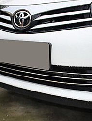 baratos -3pçs Carro Decoração da grade dianteira do carro Negócio Tipo de pasta For Grade dianteira do carro For Toyota Corolla 2017