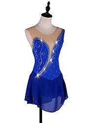 baratos -Vestidos para Patinação Artística Mulheres / Para Meninas Patinação no Gelo Vestidos Azul Real strenchy Espetáculo / Praticar Roupa para