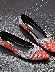Недорогие -Жен. Обувь Полиуретан Лето Удобная обувь На плокой подошве На плоской подошве Серый / Синий