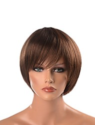cheap -Cosplay Suits / Synthetic Wig / Cosplay & Costume Wigs Straight Layered Haircut Synthetic Hair Heat Resistant / Synthetic / Designers Dark Brown Wig Men's Short Capless / Natural Hairline