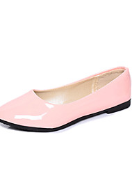 cheap -Women's Shoes PU Spring Ballerina Flats Flat Heel Pointed Toe for Office & Career / Outdoor Red / Blue / Pink