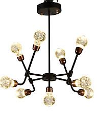 cheap -QIHengZhaoMing 9-Light Sputnik Chandelier Ambient Light - Crystal, 110-120V / 220-240V, Warm White, LED Light Source Included / 15-20㎡